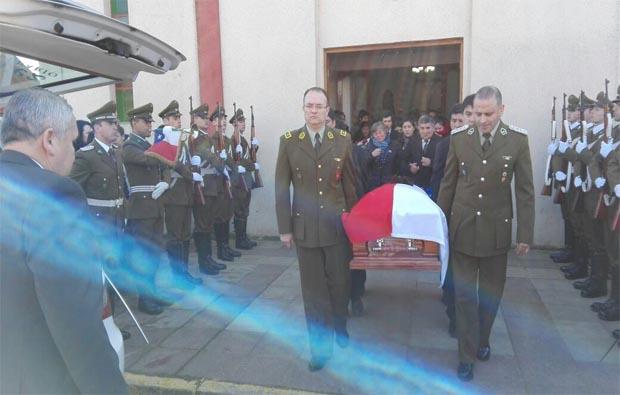 En los Sauces se realizaron los funerales del cabo 2do de carabineros