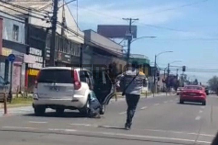 [Video] Argentino sufre robo de $5 millones, es arrastrado por vehículo en marcha cuando intentaba recuperar su dinero