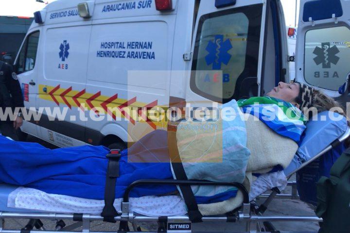 [Video] Trasladan al machi Celestino Córdova hasta el Hospital Regional de Temuco