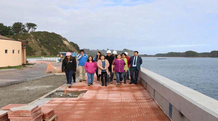 MOP avanza en el mejoramiento del borde costero de la localidad de Puerto Saavedra