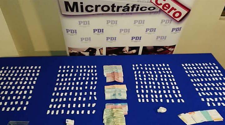Cinco personas fueron detenidas por microtráfico de drogas en Villarrica