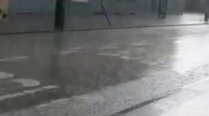 [Video] Frente de mal tiempo y granizada se hacen presente en plenas Fiestas Patrias