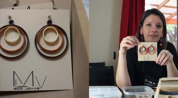 Moda sustentable: Emprendedora sorprende con papel convertido en joyas