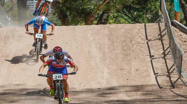 La emoción del Ciclismo Cross Country marcó la jornada de lunes en Buenos Aires 2018