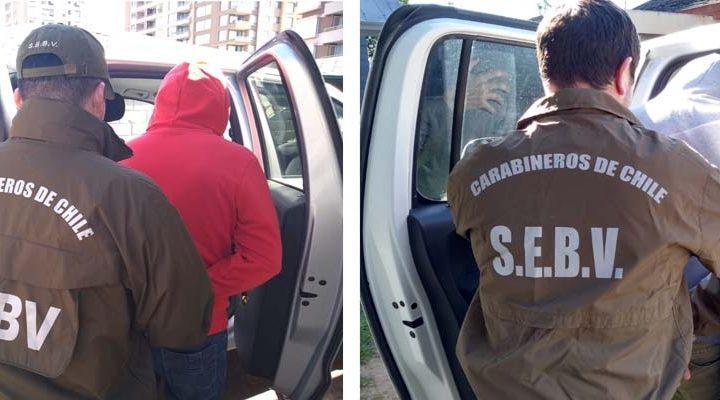 Logran la detención de 5 delincuentes, 2 de ellos con 54 y 28 detenciones anteriores