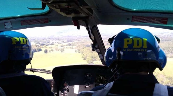 Con helicóptero y canes PDI refuerza procedimientos de búsqueda por presuntas desgracias