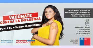 Servicio de Salud Araucanía Sur invita a la población a vacunarse contra la Influenza