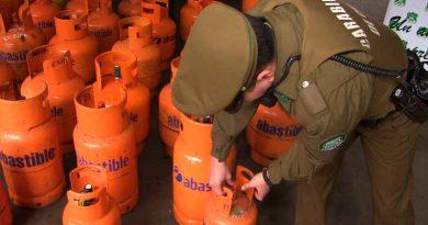 En amplio operativo Carabineros logra recuperar camión repartidor de gas licuado con carga