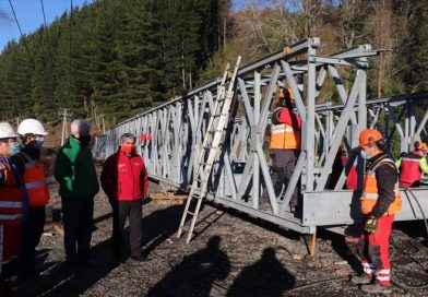 Vialidad trabaja a toda máquina en instalación de puente Mecano para reemplazar Puente Muco en la comuna de Lautaro