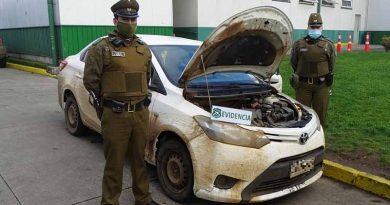 Victoria: incautan vehículo con encargo por robo con intimidación tras fiscalización en la Ruta 5 Sur