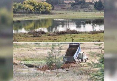 CORE Sandoval denuncia desastre ecológico ante relleno y secado de Humedal Lircay