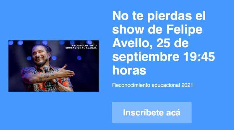 Con show de Felipe Avello, Programa Avanza premiará a los mejores estudiantes