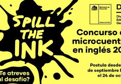 """¿Te atreves al desafío? Participa de la segunda edición del Concurso de Microcuentos en inglés """"Spill the Ink 2021"""""""