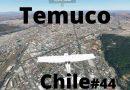 Joven ocupando tecnología Microsoft Flight Simulador 2020 presenta vuelo por Temuco en tiempo real